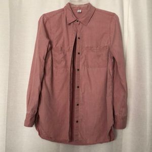 Dusty pink, collared button up